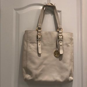 White leather Michael Kors handbag